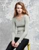 Damen Langarm T-Shirt, granit