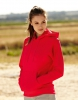 Damen Kapuzen Sweat Shirt rot