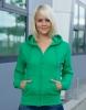 Sweat Jacke mit Kapuze Grün