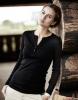 Damen Langarm T-Shirt Schwarz, Größe: XL Größe: XL