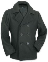 Surplus Mens Pea Coat/Cabanjacke/ schwarz