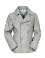 Surplus Mens Pea Coat/Cabanjacke/grau