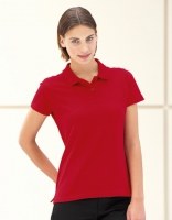 Damen Polo Pique Shirt Rot, XL