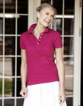 Ladies College Polo Shirt Berry