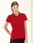 Damen Polo Pique Shirt rot