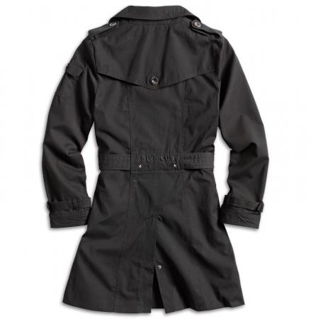 surplus trench coat f r damen schwarz univil outdoor bekleidung online kaufen. Black Bedroom Furniture Sets. Home Design Ideas